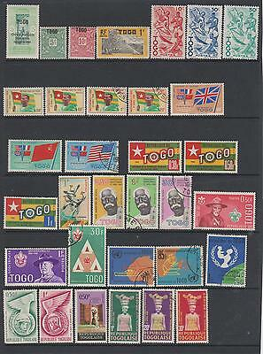 Togo - Collection of 80 mint & used on 3 pages