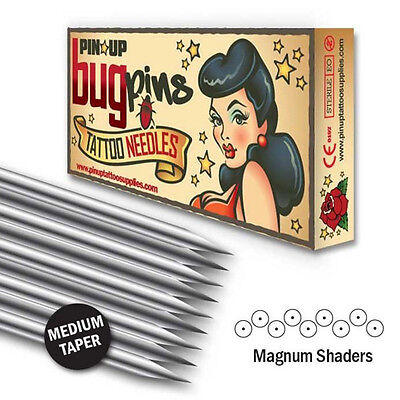 Pin Up Bugpin Magnum Shader Professional Tattoo Needles (08 Gauge)