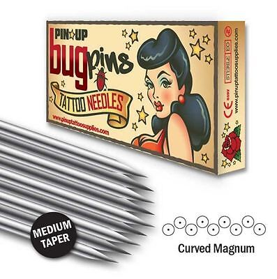 Pin Up Bugpin Curved / Soft Magnum Shaders  08 Gauge Tattoo Needles