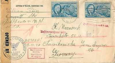 Lettre Cover US Army postal service 194 US Censor
