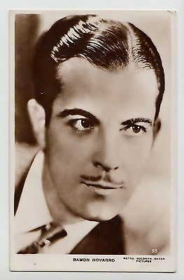 POSTCARD - Ramon Novarro, movie star film cinema actor #55, real photo RP