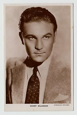 POSTCARD - Henry Wilcoxon, movie film cinema actor, RP real photo #110