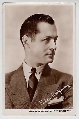 POSTCARD - Robert Montgomery, movie film cinema actor, RP real photo #53A