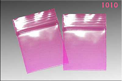 Zip Lock baggies 1.0 x 1.0 (1000/pack) - Pink