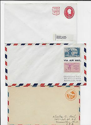 Four Envelopes With Stamps Unused