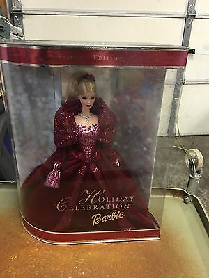 MIB Stunning Special Edition 2002 Holiday Celebration Barbie Doll Christmas