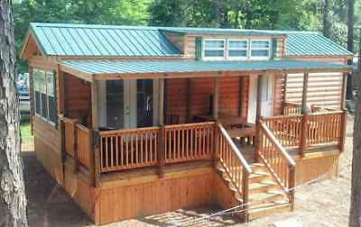 2018 National 398 Sq' RUSTIC CABIN PARK MODEL TINY HOME w/Porch Southeast U. S;