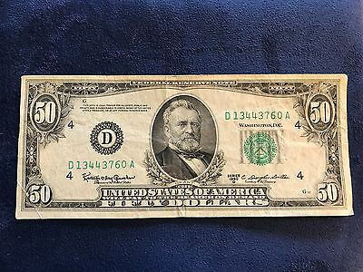 1950 $50 Small Size Federal Reserve Note - Bank of Cleveland - Free Shipping USA