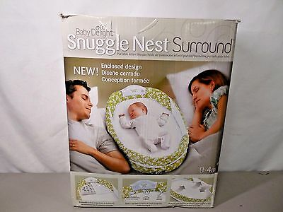 Baby Delight Snuggle Nest Surround - Green Dreams