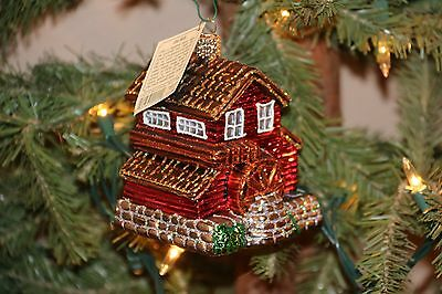 *Old Mill* Farm Wood House [20021] Old World Christmas Ornament - NEW