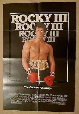ROCKY 3  (1982  film)  -US 1  SHEET  ORIGINAL CINEMA POSTER .27 X 41 INCHES