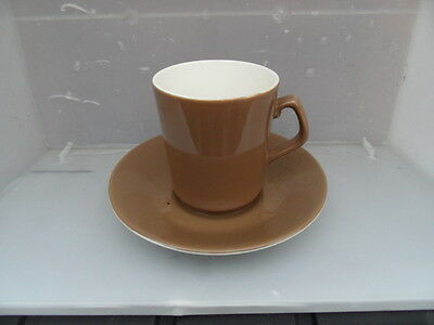 BESWICK      Vintage Coffee Cup & Saucer   Mink Brown     EXCELLENT CONDITION  6