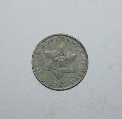 1853 Three Cent Silver   Vb33