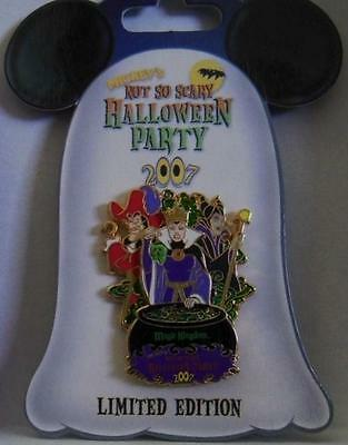 Disney Villains Pin Wdw Mickey's Not So Scary Halloween Party 2007 Maleficent