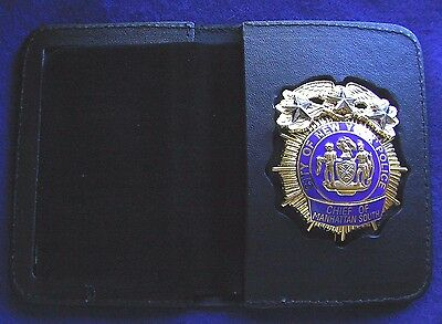 NYPD Badge bifold for CCMMISSIONER badge