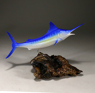 MARLIN Sculpture New direct from JOHN PERRY 11in long Figurine Airbrushed