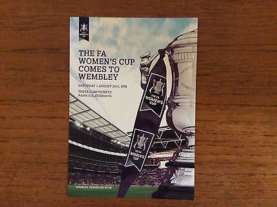 Chelsea Ladies v Notts County Ladies 2015 FA Cup Final COLOUR FLYER