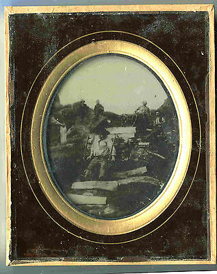 RARE 1/2 PLATE AMBROTYPE FRENCH FRAMED  c1860 SIZE 18X14,5cm