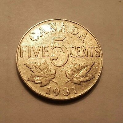 1931 - Canada - Five Cents Coin