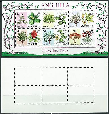 Stamps Anguilla Sg Ms 247 Flowering Trees 1976 Mnh