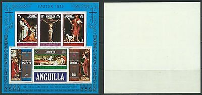 Stamps Anguilla Sg Ms 208 Easter 1975 Mnh Imperf