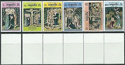 Stamps Anguilla Sg 248/249A Easter 1976 Mnh (Folded Strip)