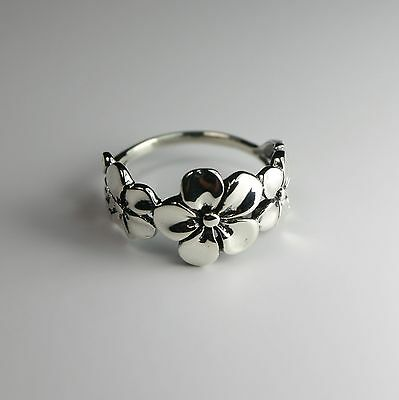 Cherry Blossom Ring ~925 Sterling Silver Cherry Blossom Flower Jewelry  *NEW*