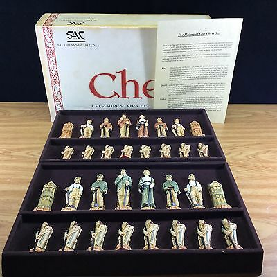 SAC Studio Anne Carlton History of Golf Chess Piece Set