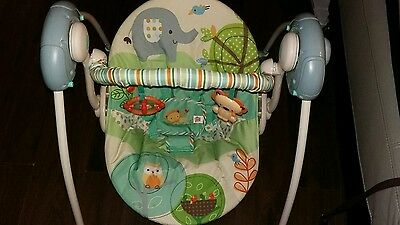 Bright Stars Playful Pals portable baby swing chair
