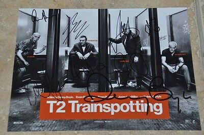 "Trainspotting 2 Signed 10.5"" x 8"" Colour Photo Multi Signed By All Of The Cast +"