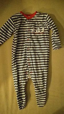 New Born Baby Boy Vests Playsuits & Sleepsuits 0-3M 7 Items