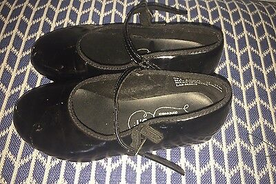 Revolution Tap Shoes - Black Patent Leather - Girl's Youth Size 1.5 Ad Guc