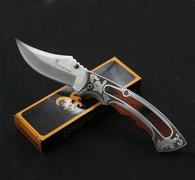 Edc Clip-Point Blade Pocket Knife W/ Engraved Handle