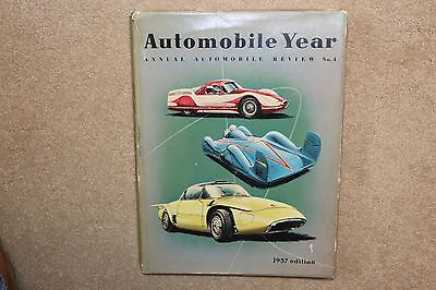 RARE 1956-1957 ANNUAL AUTOMOBILE YEAR Number 4, Hardbound Excellent Condition