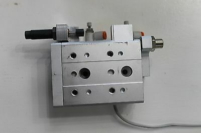SMC MXS16-30 PNEUMATIC AIR GUIDED SLIDE TABLE 30mm STROKE 16mm BORE