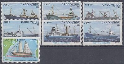 F-Ex3260 Cabo Verde 1980-82 Ship Barcos Mnh Stamps Lot.