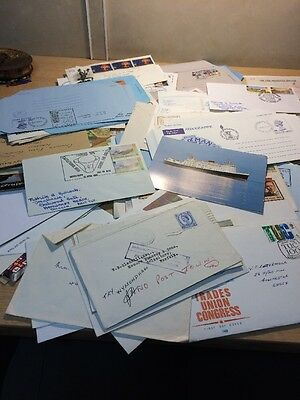Collection Of Stamps On Envelopes, Postcards , First Day Covers , World & GB