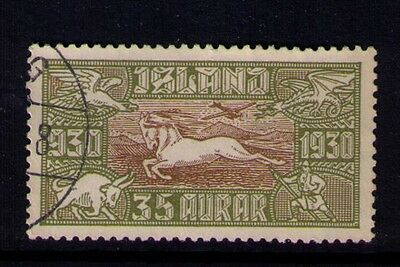 ICELAND AIRMAIL STAMP SC# C6 USED Cat.$145
