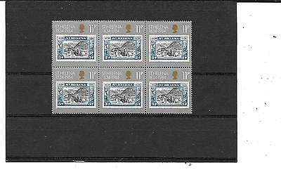 St Helena # 105, ( Block Of 6-Top Stamp Has A Small Mark On The Top ) Mnh Stamps