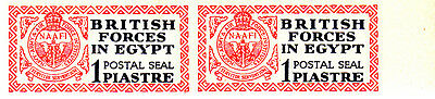 Egypt 1932 British Forces 1p Postal Seal IMPERF PAIR superb RARE unmounted mint