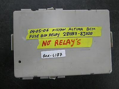 04 05 06 nissan altima bcm fuse box relay #284b7-8j020 *see item