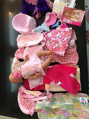 Baby Born Doll With All Accessories & lots OfXtra Clothes. P/up Highett Vic 3190