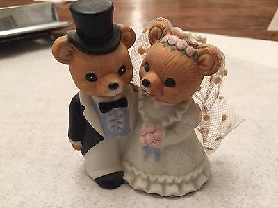 wedding party bears by Homco Bride And Groom