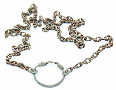 Ancient Celtic Chain Necklace with twisted Ring 1st century BC