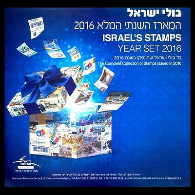 Israel 2016 Complete Year Set 43 Stamps With Tabs + 2 Souvenir Sheet 2017