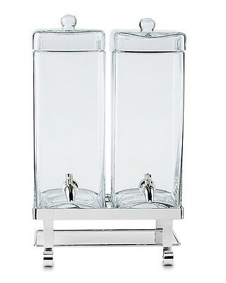 Williams Sonoma Glass Double Beverage Dispenser NEW NIB