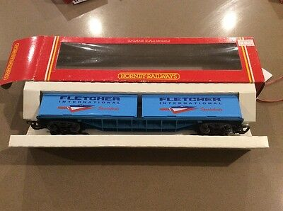 Hornby Railways R030 Fletcher International Sports boat 2x30'container Wagons