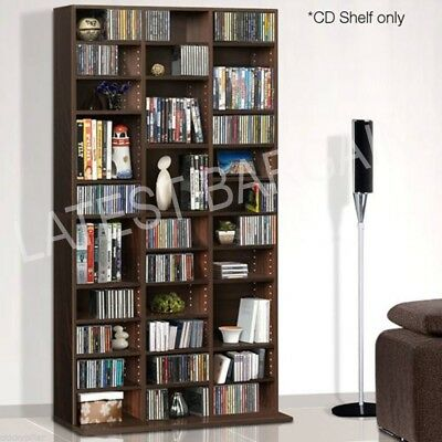 Storage Rack Unit 528 DVD 1116CD Brown Customisable Shelves Book Tower Display