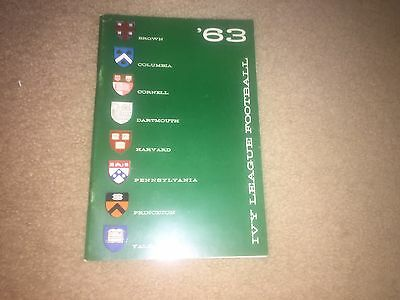 (1) 1963 Ivy League Football Book and Media Guide