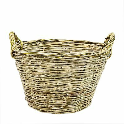 XXL Large storage basket with handles Natural Wicker Laundry Fruit